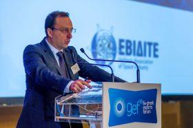 Θεσμικός Χαιρετισμός:  Αθανάσιος Πότσης, PhD, Πρόεδρος, Ένωση Ελληνικών Βιομηχανιών Διαστημικής Τεχνολογίας & Εφαρμογών (ΕΒΙΔΙΤΕ), Μέλος ΔΣ, ΕΛΔΟ